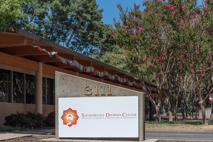 Sacramento Dharma Center building with signal