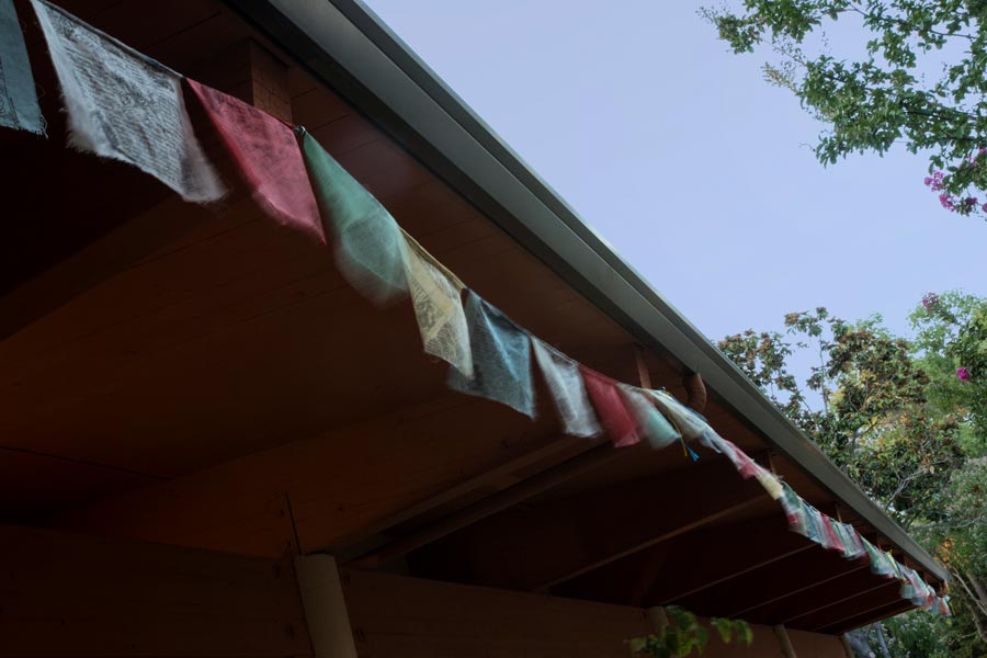 Sacramento Dharma Center flags on building